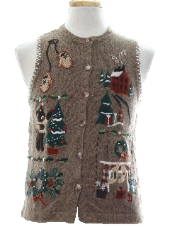 1990's Unisex Country Kitsch Ugly Christmas Sweater Vest