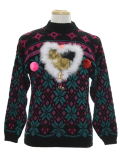 1980's Unisex Catmus Ugly Christmas Vintage Sweater