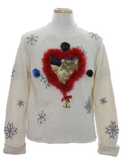 1980's Womens Catmus Ugly Christmas Sweater
