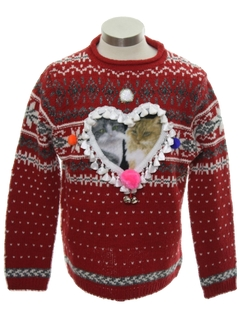 1980's Unisex Ladies or Boys Catmus Ugly Christmas Sweater