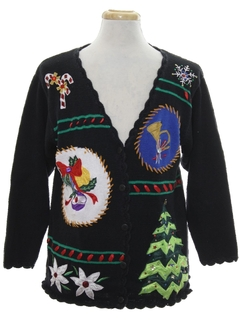 1990's Unisex Designer Ugly Christmas Cardigan Sweater