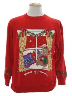 1980's Unisex Bear-riffic Vintage Ugly Christmas Sweatshirt