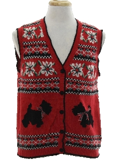 1980's Unisex Dog-gonnit Ugly Christmas Sweater Vest