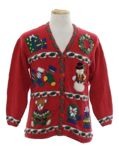 1990's Unisex Vintage Ugly Christmas Cardigan Sweater