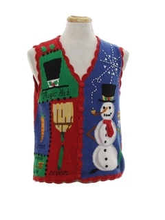 1990's Unisex Vintage Ugly Christmas Sweater Vest