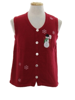 1980's Unisex  Minimalist Ugly Christmas Sweater Vest