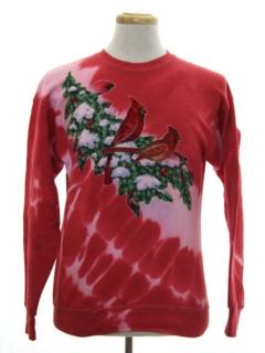 1980's Unisex Hand Tie Dyed Ugly Christmas Sweatshirt