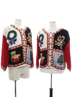 1990's Unisex Vintage Ugly Christmas Matching Set of Sweaters