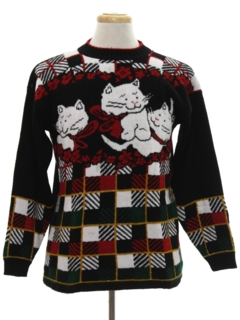 1980's Unisex Vintage Cat-Tastic Ugly Christmas Sweater