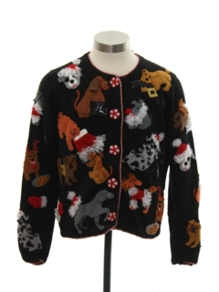 1990's Womens Designer Dog-gonnit Ugly Christmas Sweater