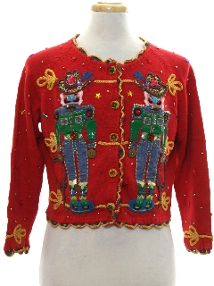 1990's Womens Designer Ugly Christmas Sweater