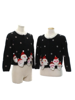1990's Womens Ugly Christmas Matching Set of Sweaters