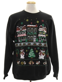 1980's Mens Ugly Christmas Sweatshirt