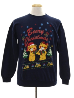 1990's Unisex Vintage Bear-riffic Ugly Christmas Sweatshirt