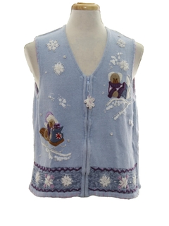 1990's Unisex Bear-riffic Ugly Christmas Sweater Vest
