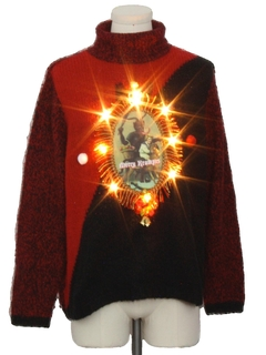 1990's Unisex Lightup Krampus Ugly Christmas Sweater
