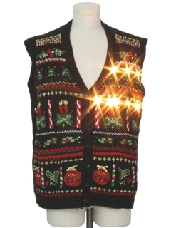 1990's Unisex Vintage Lightup Ugly Christmas Sweater Vest