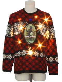 1980's Unisex Lightup Krampus Ugly Christmas Sweater