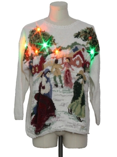 1990's Unisex Multicolor Lightup Ugly Christmas Sweater