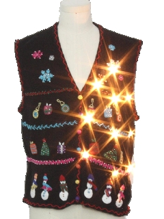 1990's Unisex Lightup Ugly Christmas Sweater Vest