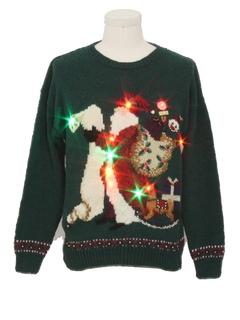 1990's Unisex Multicolor Lightup Ugly Christmas Vintage Sweater