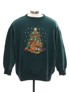 1980's Womens Bear-riffic Ugly Christmas Sweatshirt
