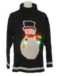 1990's Unisex Vintage Multicolor Lightup Ugly Christmas Sweater