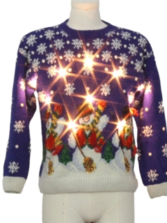 1990's Unisex Vintage Lightup Ugly Christmas Sweater