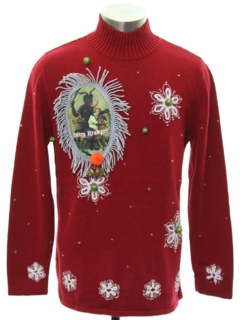 1990's Unisex Ladies or Boys Krampus Ugly Christmas Sweater