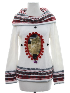 1990's Womens or Girls Catmus Ugly Christmas Sweater