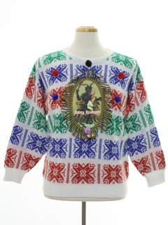1980's Unisex Vintage Krampus Ugly Christmas Sweater