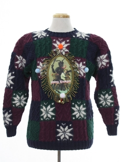 1990's Womens Vintage Krampus Ugly Christmas Sweater