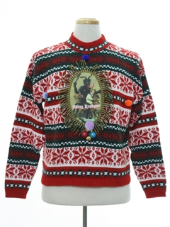 1980's Womens Vintage Krampus Ugly Christmas Sweater