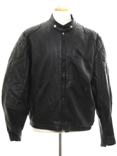 1980's Mens Motorcycle Leather Jacket