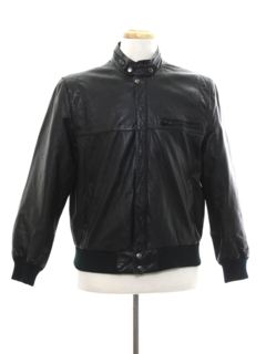 1980's Mens Cafe Racer Leather Jacket