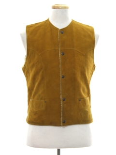 1970's Unisex Suede Leather Vest