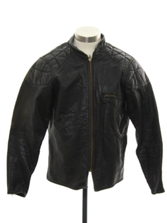 1960's Unisex Motorcycle Leather Jacket