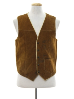 1970's Mens Suede Leather Vest