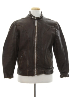 1960's Mens Cafe Racer Leather Jacket
