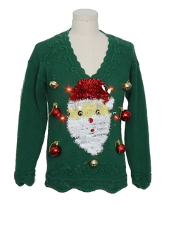 1980's Unisex Hand Embellished Ugly Christmas Vintage Sweater
