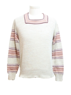 1970's Mens Hippie Pullover Sweater