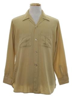 1960's Mens Mod Gabardine Sport Shirt