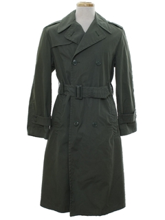 1960's Mens US Army Military Overcoat Jacket