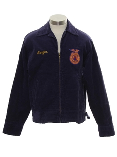 1960's Mens FFA Corduroy Zip Jacket