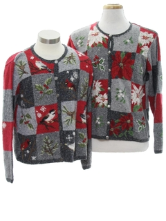 1990's Unisex Ugly Christmas Matching Set of Sweaters