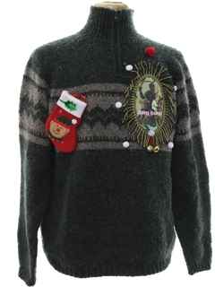 1980's Mens Ugly Christmas Krampus Sweater
