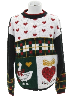 1980's Unisex Girls or Boys Vintage Ugly Christmas Sweater