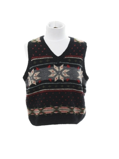 1980's Unisex Girls or Boys Ugly Christmas Snowflake Sweater Vest