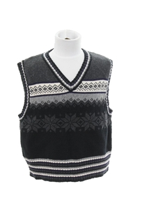 1980's Unisex Girls or Boys Ugly Christmas Sweater Snowflake Vest