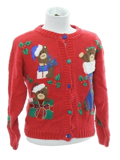 1980's Unisex/Childs Bear-riffic Ugly Christmas Sweater